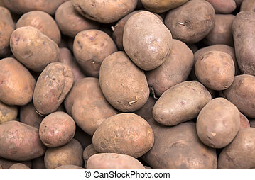 background of dirty potatoes