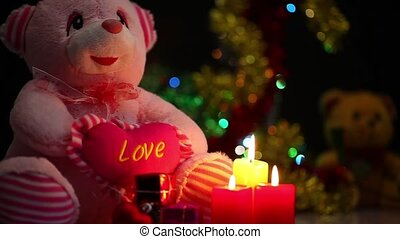 Bear Toy Gift Box and Candles