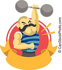 Circus athlete Vector flat illustration