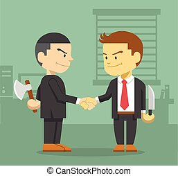 Business competition concept Vector flat illustration