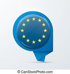 vector modern euro flag design