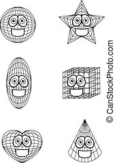 Shapes Smiling