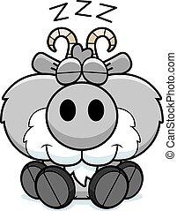 Cartoon Goat Napping