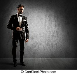 Elegant businessman - A businessman wearing an elegant black...