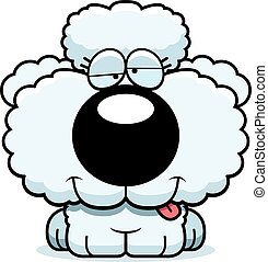 Cartoon Goofy Poodle - A cartoon illustration of a poodle...