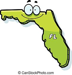 Cartoon Florida - A cartoon illustration of the state of...