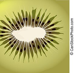 Kiwi vector background - Square vector background with...