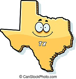 Cartoon Texas - A cartoon illustration of the state of Texas...