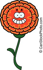 Happy Marigold - A cartoon illustration of a marigold...