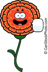 Talking Marigold - A cartoon illustration of a marigold...