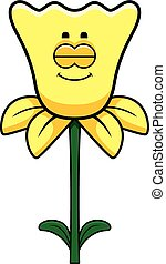 Sleeping Daffodil - A cartoon illustration of a daffodil...