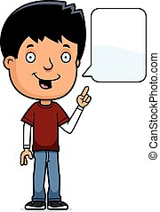 Talking Teen Boy - A cartoon illustration of a teenage boy...