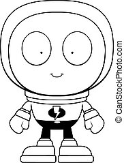 Alien Spacesuit - A cartoon green alien in a spacesuit.