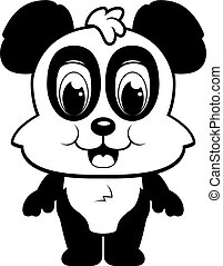 Baby Panda - A happy cartoon panda standing and smiling