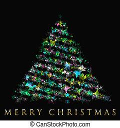Wonderful Christmas tree design illustration