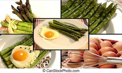 asparagus bismarck style, collage