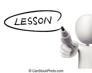 lesson word written by 3d man