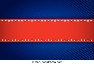 red and blue patriotic illustration design background