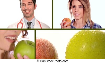 apple and doctor composition - an apple a day keeps the...