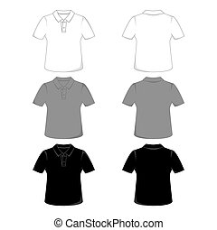 Polo-shirt - Front and back views of a polo-shirt