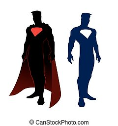 Superhero figure - vector illustration of superhero figure