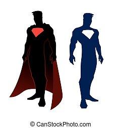 Superhero figure - vector illustration of superhero figure