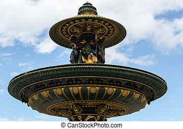 Concorde - 02 - The fontain at the place de la concorde in...