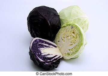 Purple and green cabbage 1