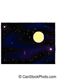 The moon in the night sky - The moon in the mystical night...