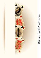 New 2015 year casino poker banner,