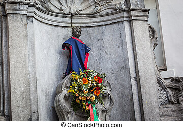Manneken pis - BRUSSELS - SEPTEMBER, 25: One of the most...