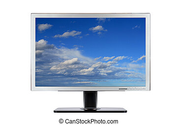 Computer flat wide screen - A computer flat wide screen with...