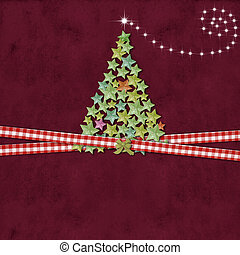 Christmas tree greeting background