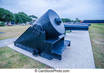 cannons of Fort Moultrie on Sullivan's Island in South...