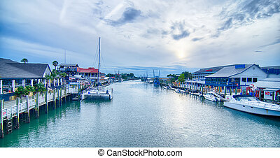 view of shem creek from coleman blvd charleston south...
