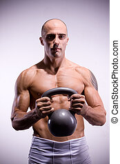 Man kettlebells - Man train with kettlebells