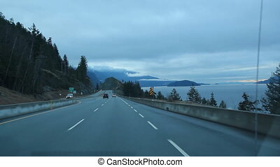 Sea to Sky highway. - Near SQUAMISH, B.C. Travelling from...