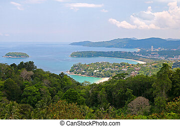 View of 3 bays from Kata Viewpoint - Landscape view of 3...