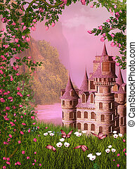 fairy tale castle - dreamy fairy tale background