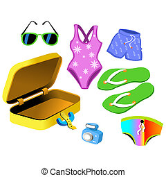 Bathing Suits and travelling bag
