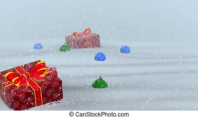 Flight the gifts lost Santa - Render of backgrounds flight...