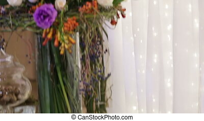 Large decorativing bouquet panorame