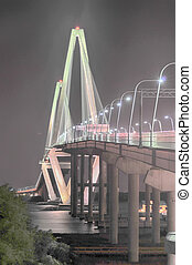 Cooper River Bridge at night Charleston South Carolina