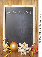 Christmas wish list - Wish list background with space...