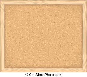Bulletin Board - Empty bulletin board on white background,...