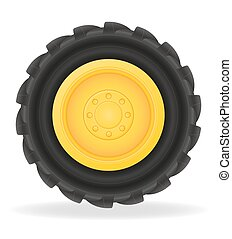 wheel for tractor vector illustration