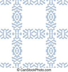 Vector seamless ethnic pattern, cells on white background