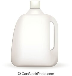 Vector illustration of white plastic bottle - White blank...