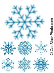 Blured snowflakes - Set of different blured snowflakes...