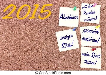 New Year resolutions German - New Year resolutions in German...